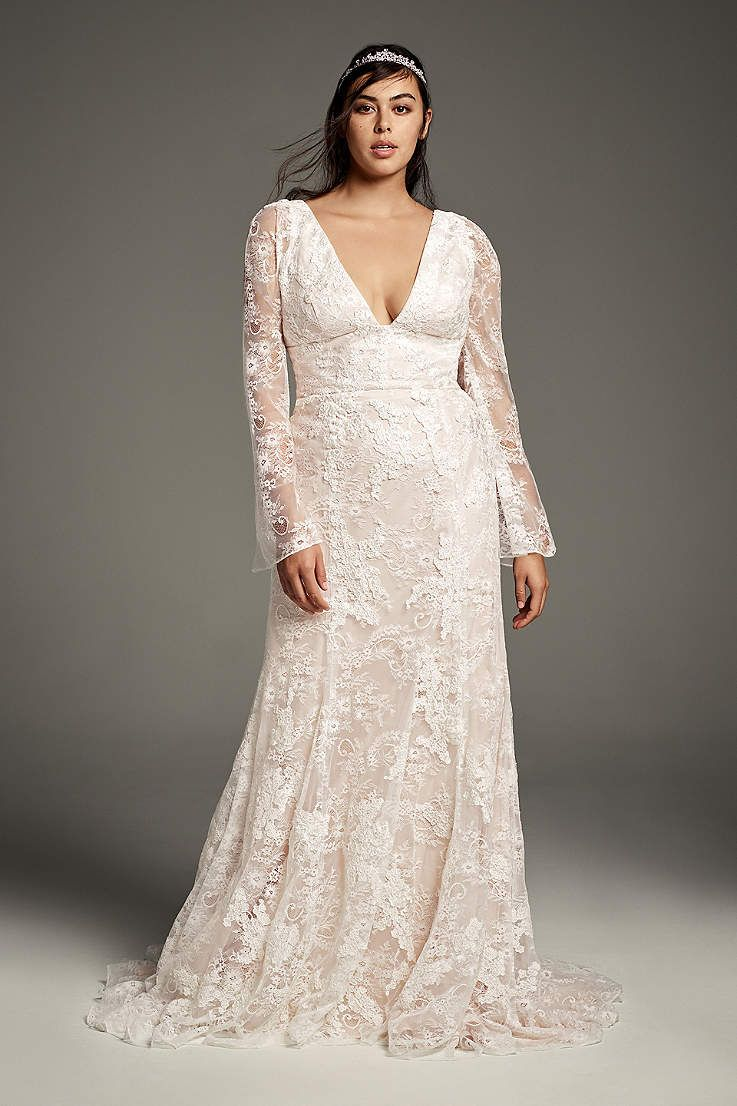 33 Gorgeous Plus Size Wedding Dresses For Every Style And Budget A Practical Wed Wedding Dress Long Sleeve Plus Wedding Dresses Davids Bridal Wedding Dresses [ 1106 x 737 Pixel ]