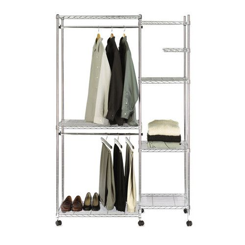 105 seville classics ultrazinc 18 deep heavy duty steel wire closet organizer on castors