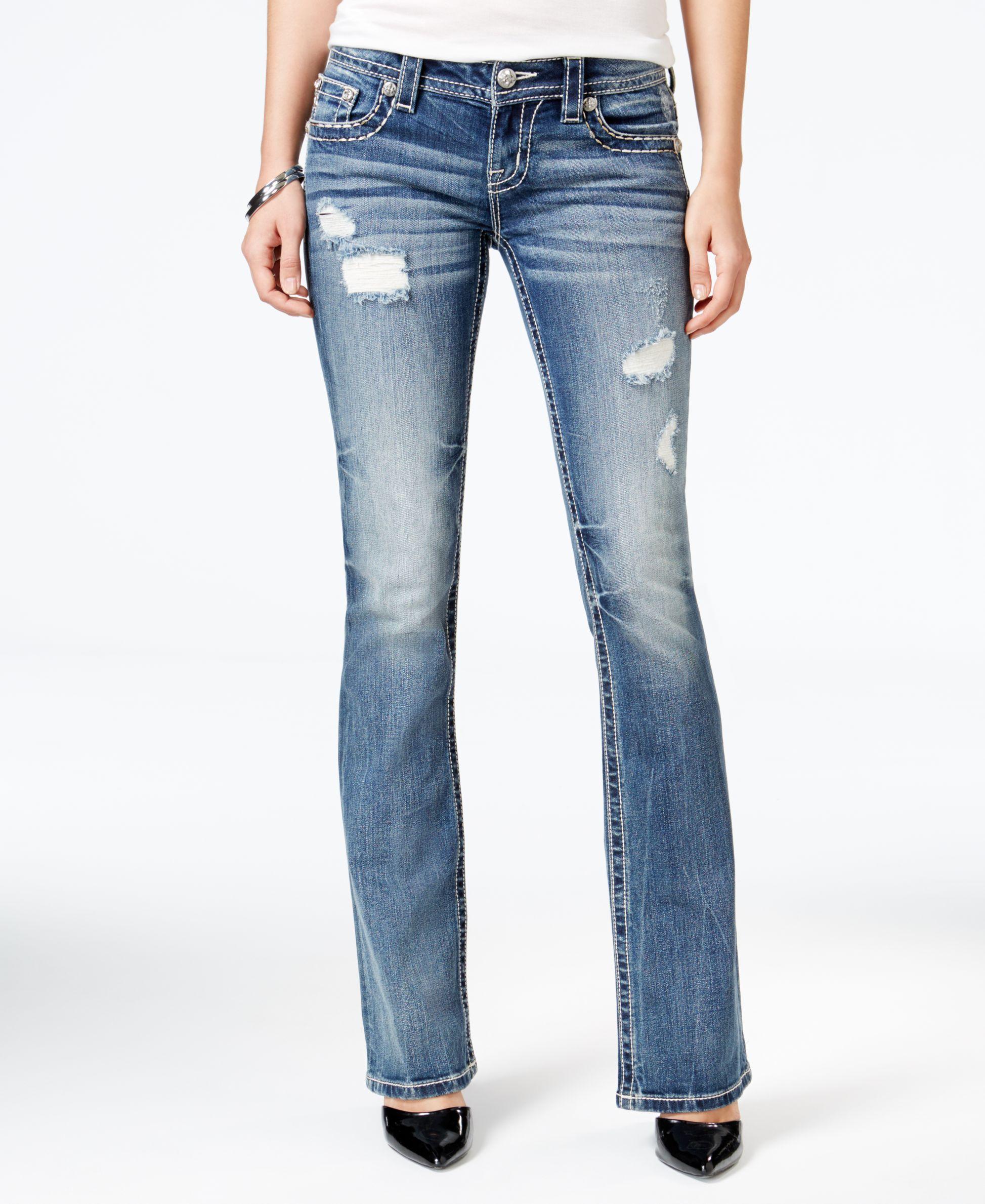 e53d0d7f8ea Miss Me Ripped Medium Blue Wash Bootcut Jeans | Fall | Jeans, Miss ...