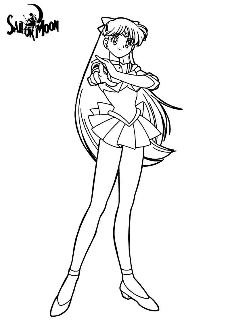 So Cool isn\'t she? | Sailor Moon Coloring Pages | Pinterest | Sailor ...