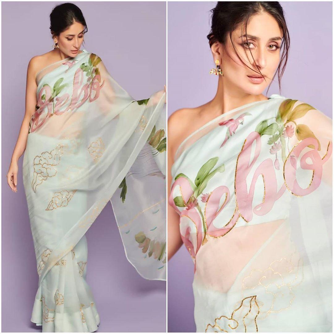 Eattweetblog On Instagram Kareena Kapoor Khan In Her Custom Bebo Saree By Picchikka Jewels By Sunita Kapoor Stylist Indian Fashion Saree Saree Look Saree