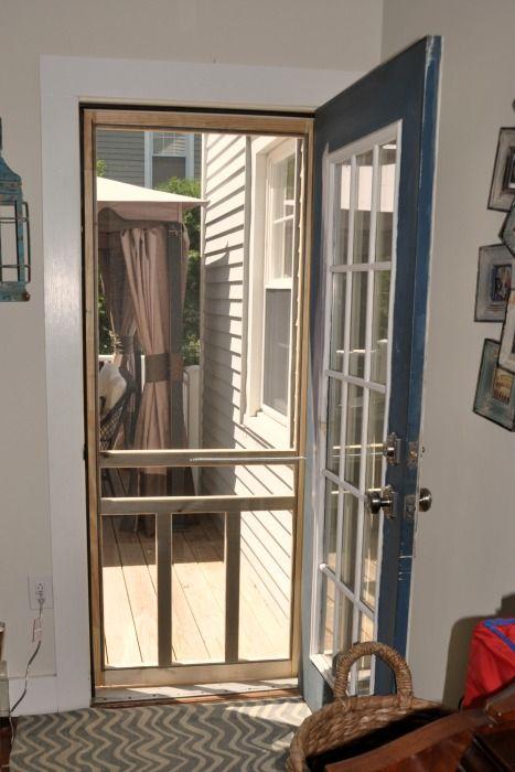 How To Install A Screen Door Screen Door Mobile Home Repair Home