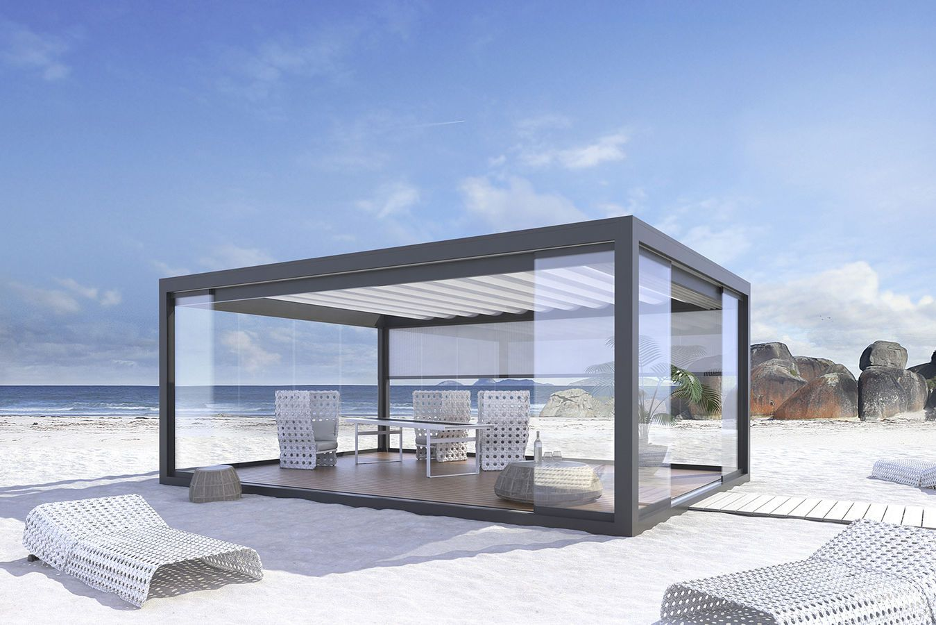 aluminium pergola stobag sunroom ideas pinterest berdachungen gartenh user und. Black Bedroom Furniture Sets. Home Design Ideas