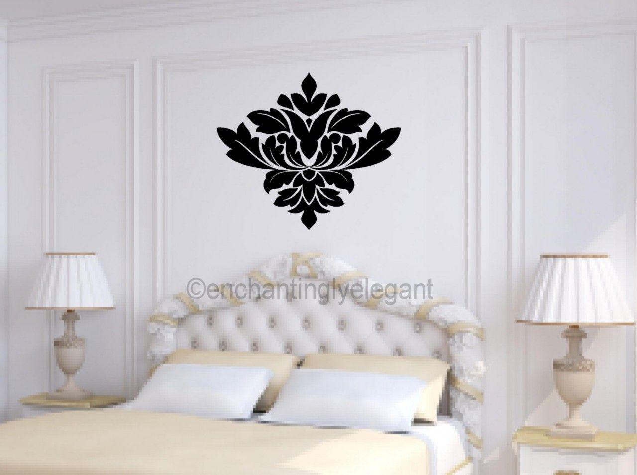 Damask Embellishment Vinyl Decal Wall Sticker Master Bedroom