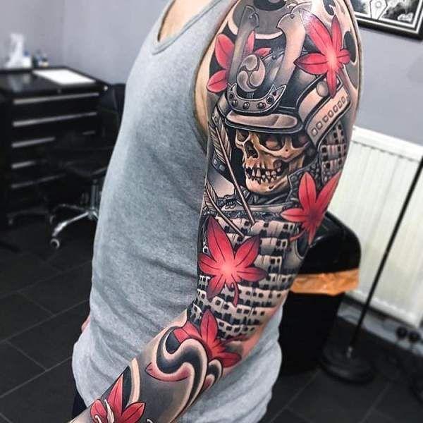 Tatouage Homme Samourai Japonais Sur Bras Tatouage Homme Tattoos