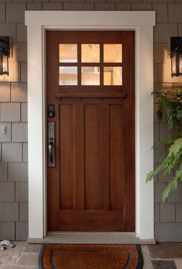 Puerta exterior vidrio madera a house a home for Puertas de madera modernas para exterior