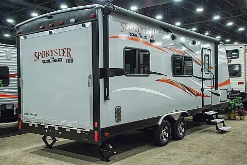 Sportster 100 210th Lightweight Travel Trailer Toy Hauler K Z Rv