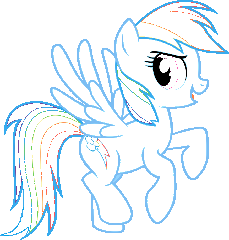 Coloring pages of rainbow dash