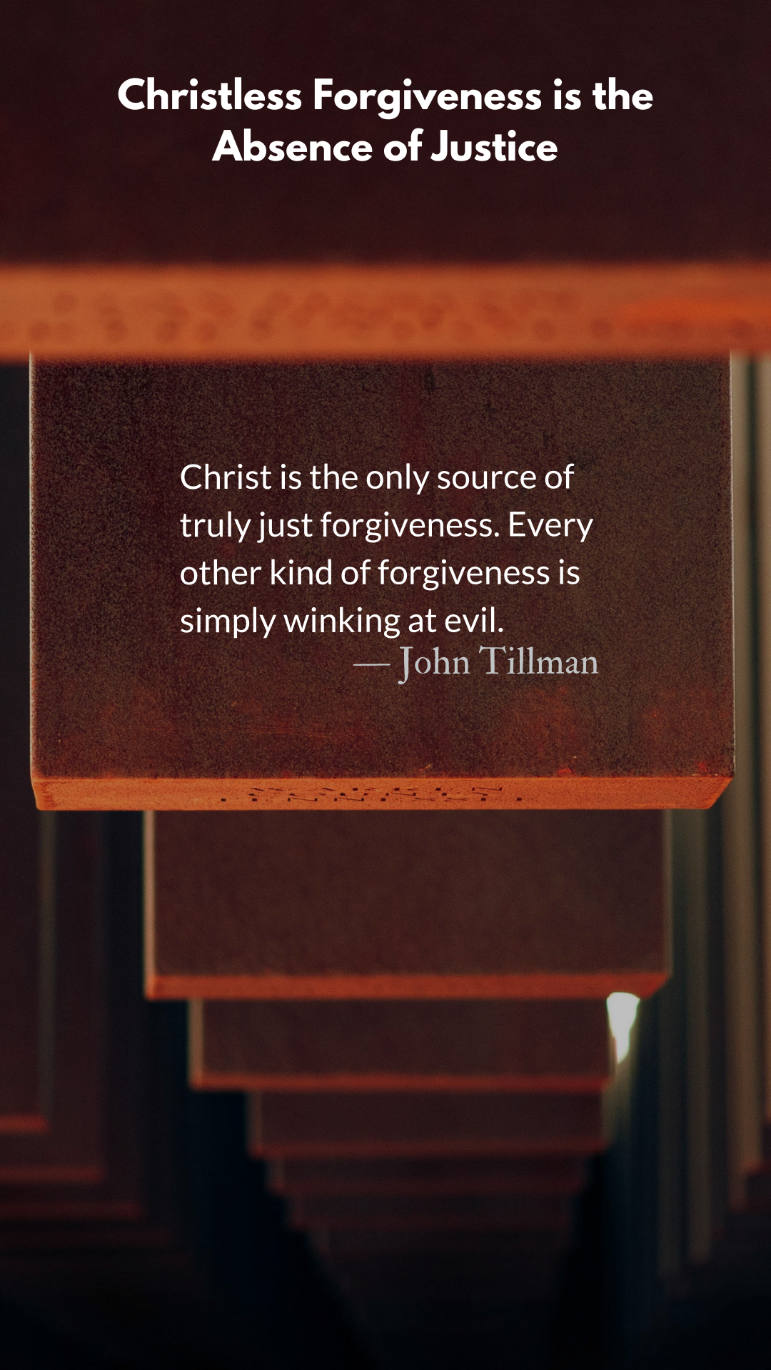 Christless Forgiveness Is The Absence Of Justice