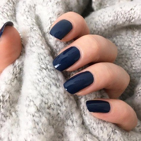 Dark Blue Nail Color For Winter Winter Nail Color Ideas Navy Blue