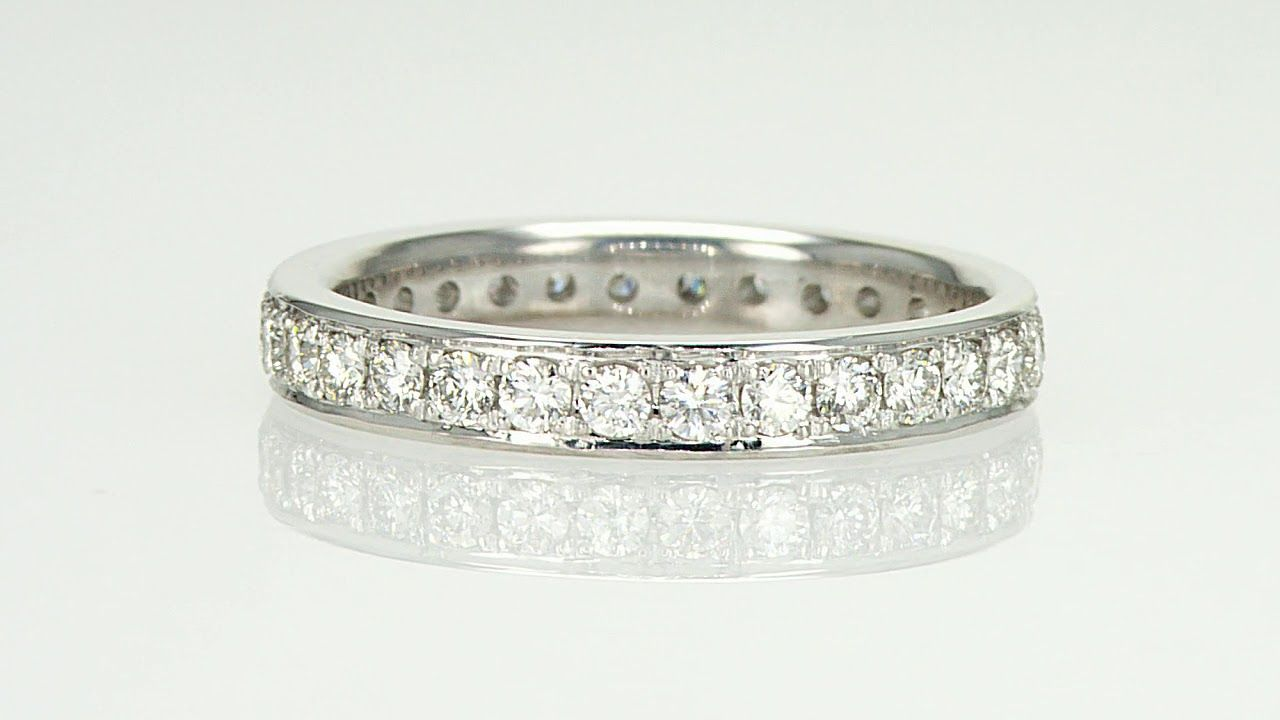 Eternity Ring With 0 64 Carat High Quality Diamonds Diamonds Usa Com Diamond Wedding Bands Diamond Anniversary Rings