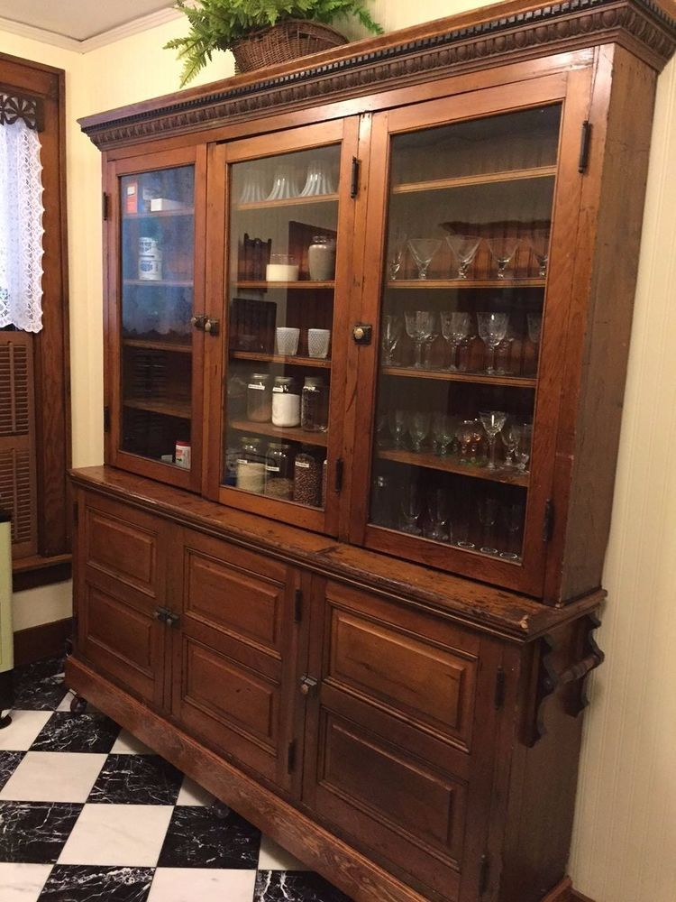 ANTIQUE EARLY 1900's PINE GENERAL STORE CABINET/ BUTLER'S PANTRY ...