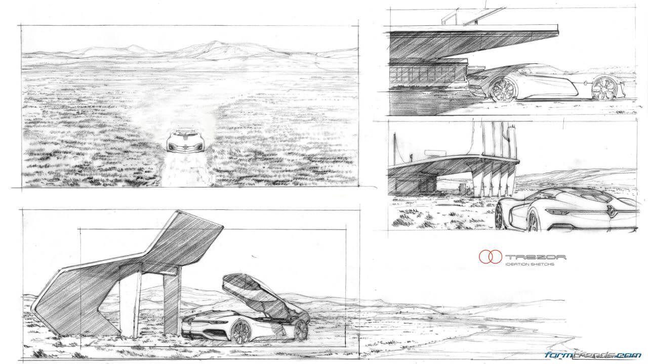 renault trezor concept with design director laurens van den acker