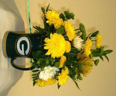 green bay packer Bridal Bouquet | Haentze Floral Company | GB ...