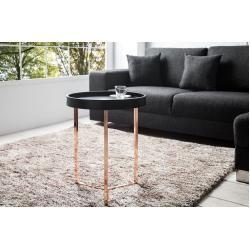 Extravaganter Beistelltisch Modular 40cm Matt Schwarz Kupfer Rund Inkl Tablett Riess Ambiente In 2020 Nachttisch Holz Couchtisch Truhe Und Moderner Tisch