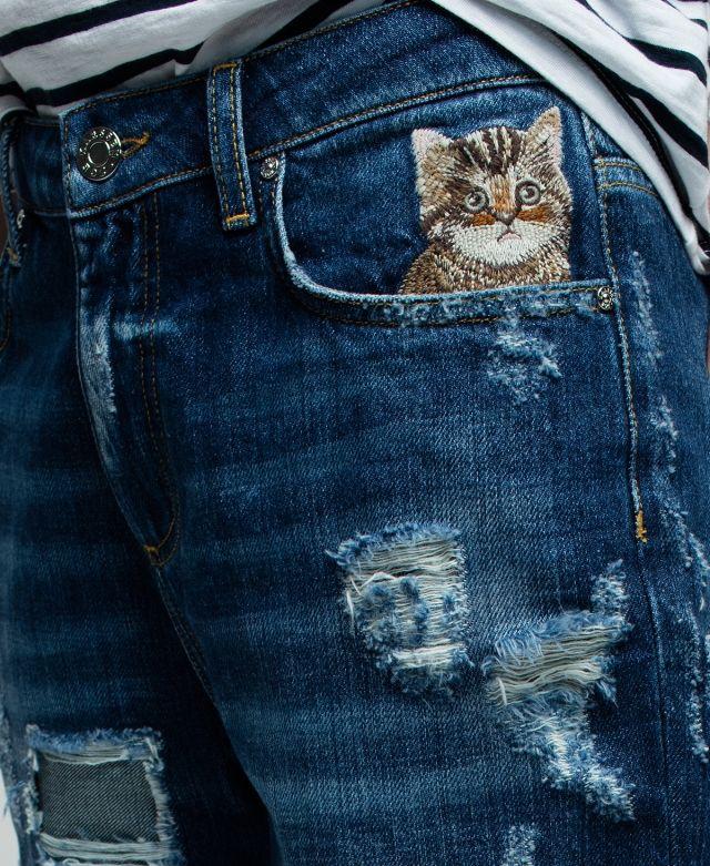 Janis Boyfriend Denim Cat Jeans Zoe Karssen 7Wle9U6