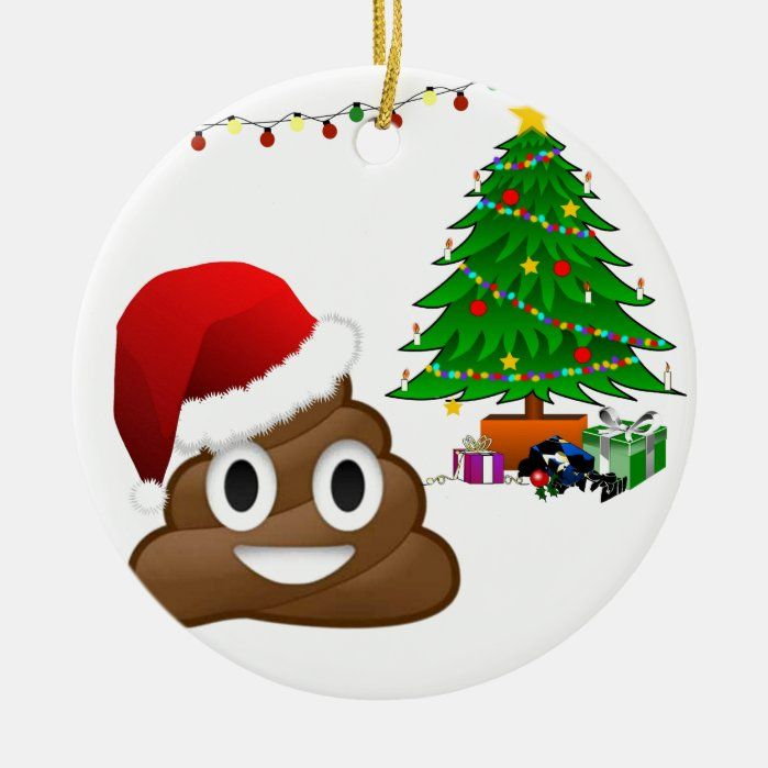 Christmas Poo Emoji Ceramic Ornament Zazzle Com In 2020 Unique Christmas Ornaments Christmas Ornaments Emoji Christmas Tree
