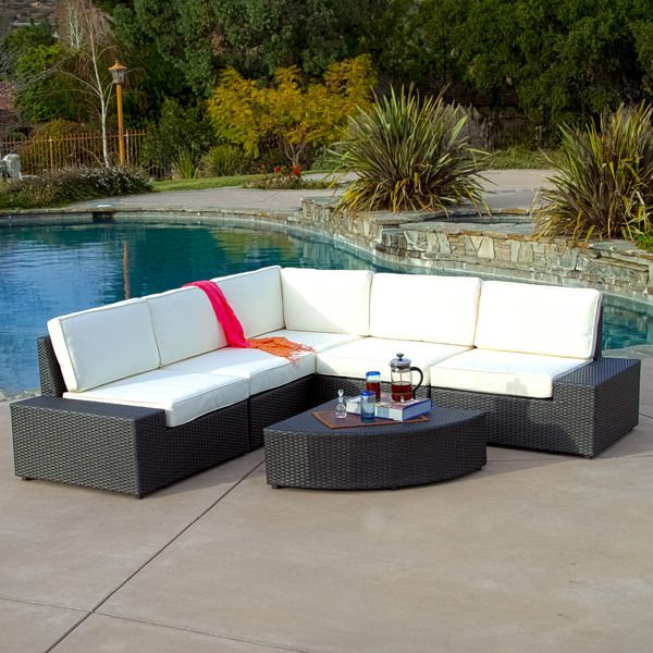 Christopher Knight Home Santa Cruz Outdoor Grey Wicker Sofa Set   Overstock  Shopping   Big Discounts On Christopher Knight Home Sofas, Chairs U0026  Sectionals