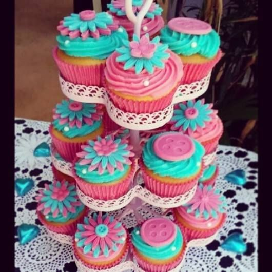 Naming Day Cupcakes all decorations hand made