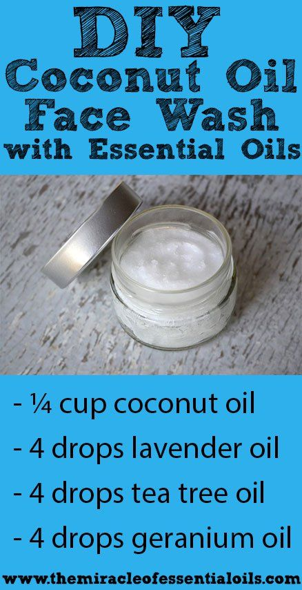 Coconut oil facial wask