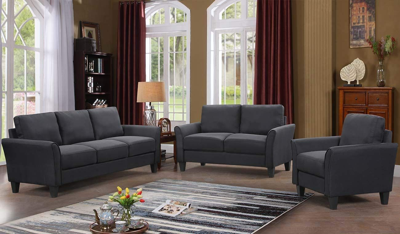 Amazon Com Harper Bright Designs 3 Piece Sofa Loveseat Chair