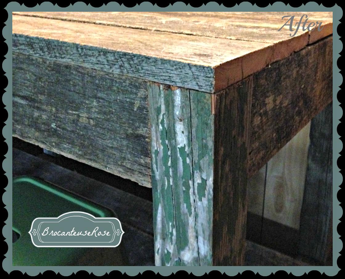 BrocanteuseRose: Restoration Hardware Salvaged Wood Island Knockoff ...