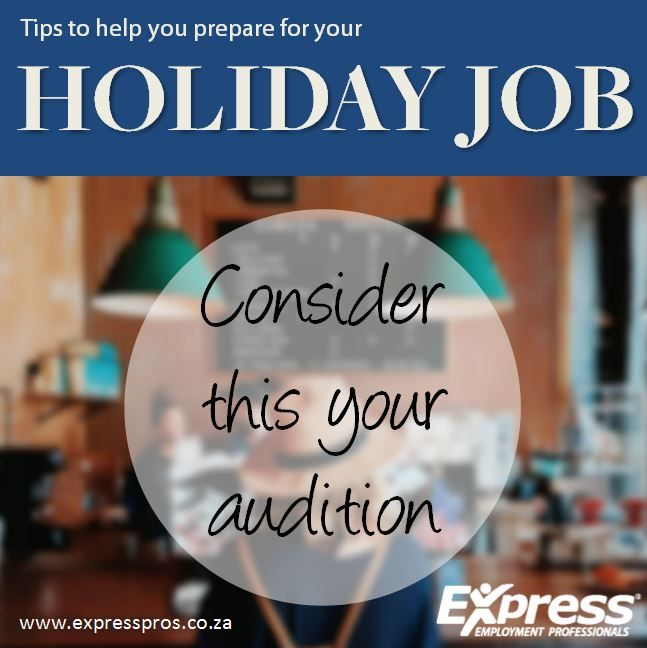 If You're One Of Those Workers Wanting Your Holiday Job To