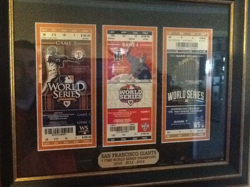 Thank You To Neal For Sharing This 3 Opening Mat With The Giants Wold Series Game Tickets Game Tickets Custom Design Custom