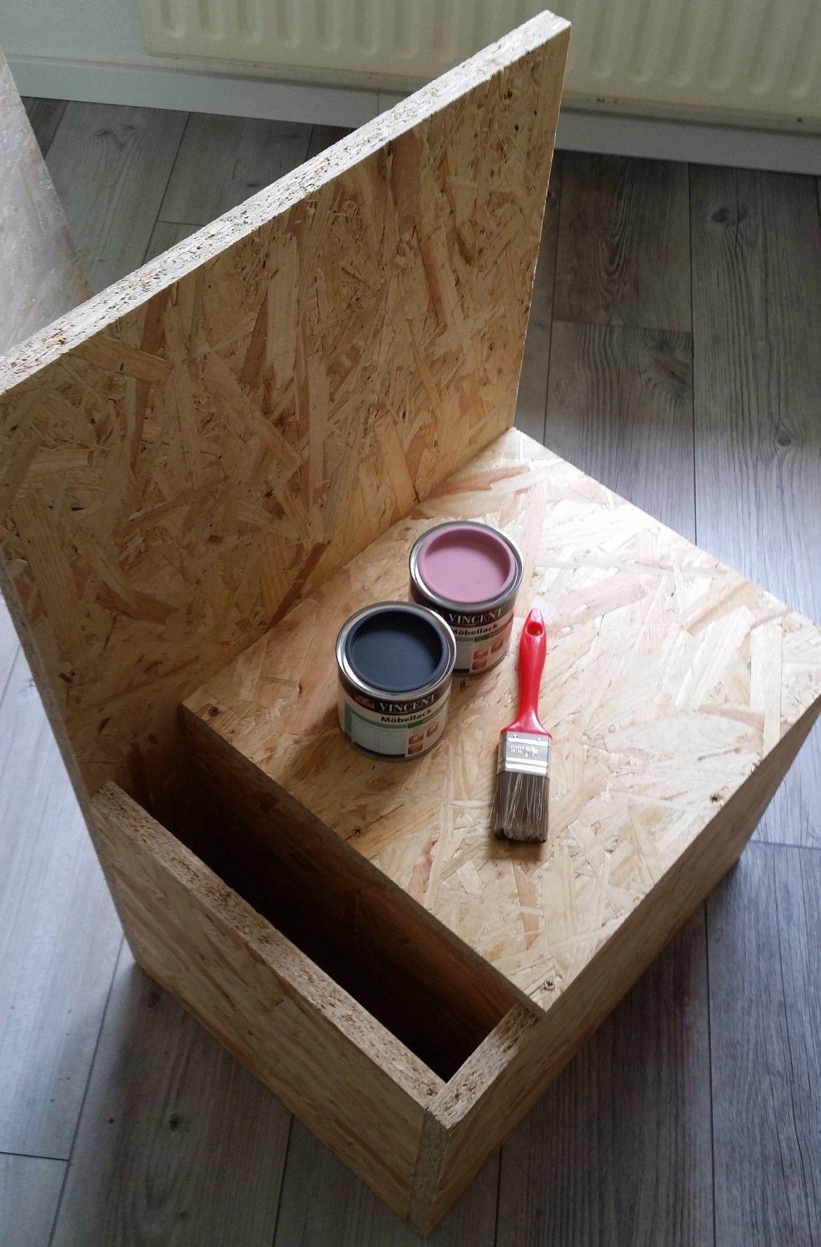 Döppken Veredeln Raumpiraterie Rosa Grau Holz Streichen Kindergarderobe  Möbel Selberbauen Diy Aufbewahrung