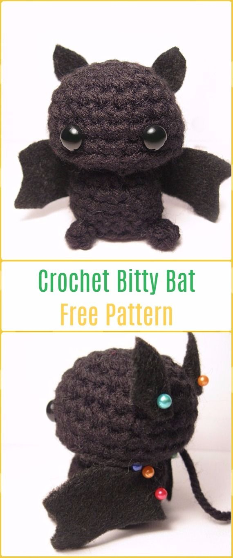 Amigurumi Crochet Bitty Bat Free Pattern-Amigurumi Crochet Bat Free ...
