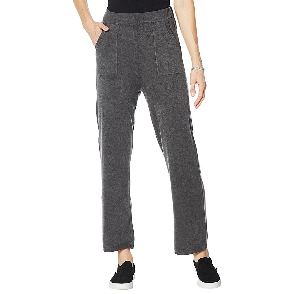 DG2 by Diane Gilman Lux Touch Straight-Leg Cozy Pant The super-soft touch of this acrylic knit pant feels like cashmere without the hefty price tag. With a pull-on, straight-leg silhouette, it looks great with chunky sweaters and turtlenecks.