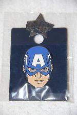 Universal Studios Marvel Disney Captain America Face Trading Pin New in Pack