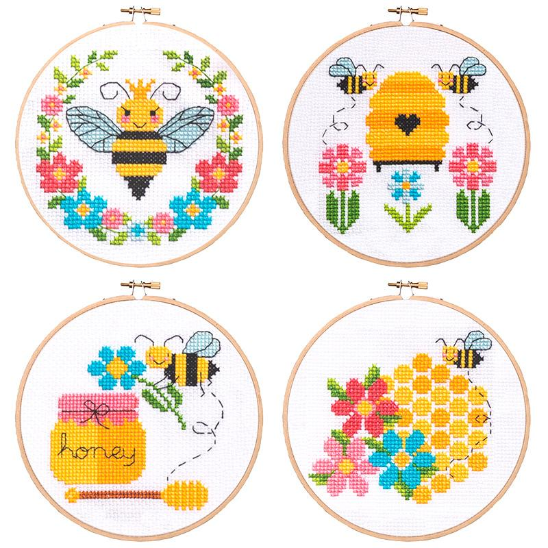 Bees And Honey Cross Stitch Pattern Cactus Cross Stitch Cross