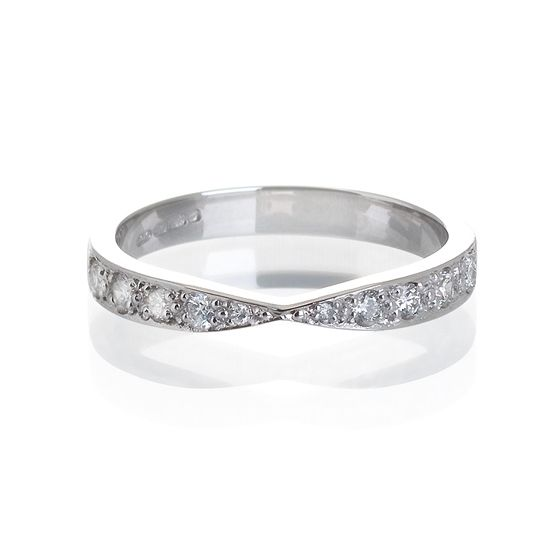 Platinum Ribbon Wedding Ring Mitchel Rings Pinterest