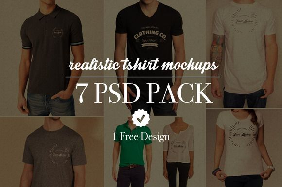 7 realistic tshirt mockups by limedot at tayloradams4me on creative
