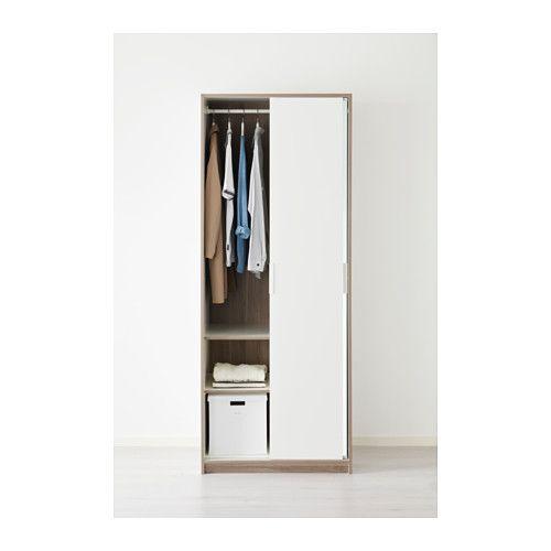 Trysil Garderobeskap Hvit Speil Armoires Doors And Spaces