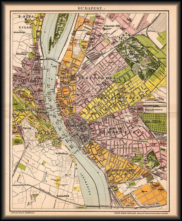 Budapest Terkepe 1894 Terkep Budapest Regi Terkepek