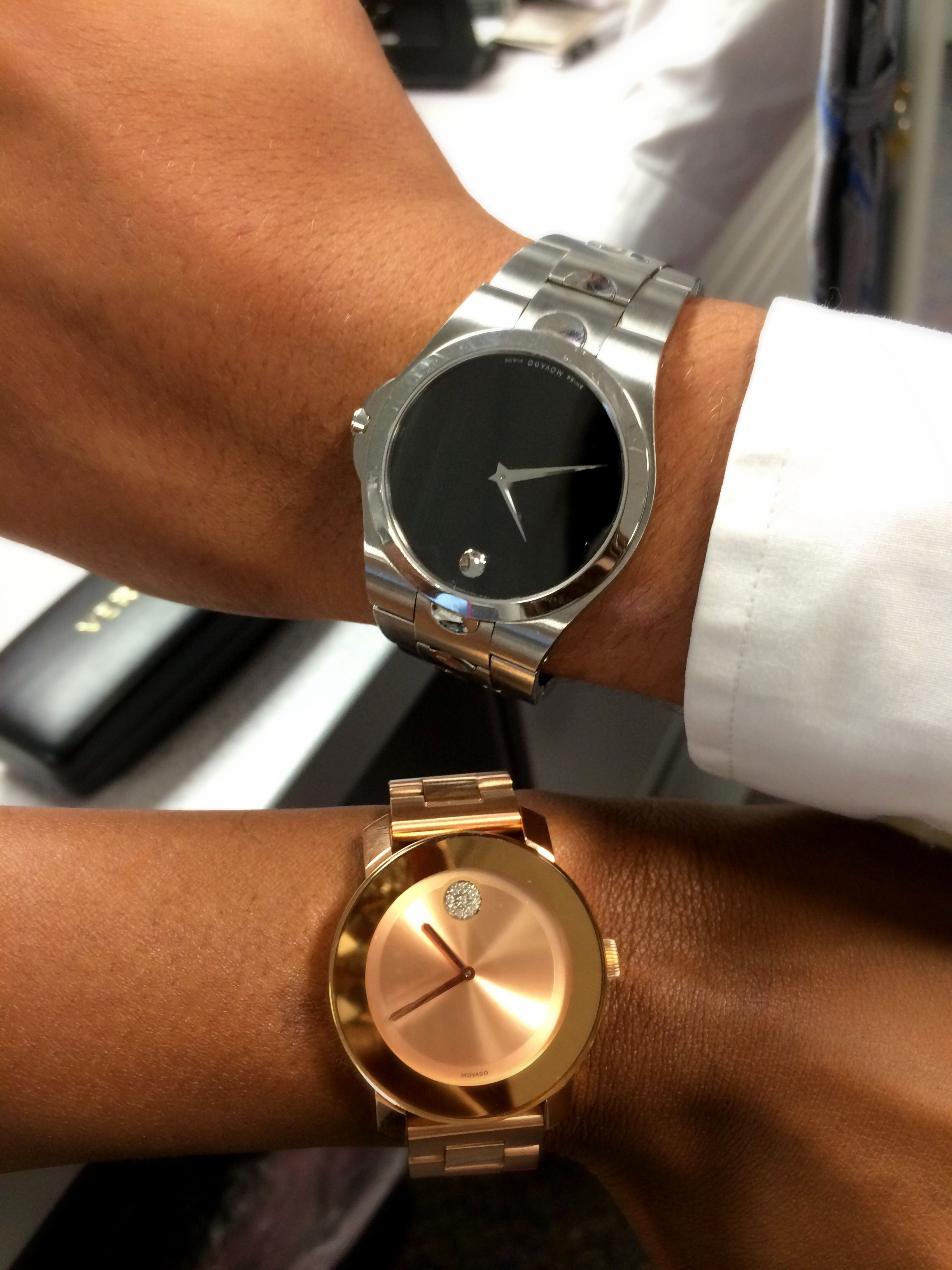 Movado Watch His And Hers Movado Watch Rosegold Posh