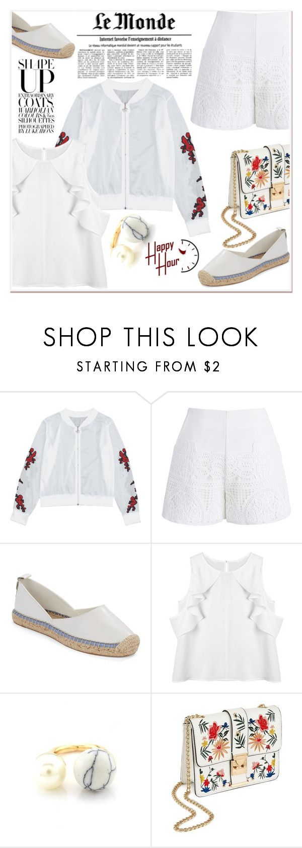 """White up"" by nerma10 ❤ liked on Polyvore featuring Chicwish, French Connection and Miss Selfridge"