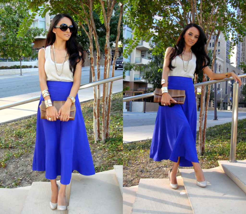 long blue skirt | Skirt outfit ideas | Pinterest | Long blue skirts
