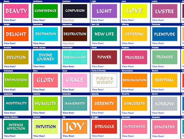 Metaphysical Meaning Of Colors Bing Images