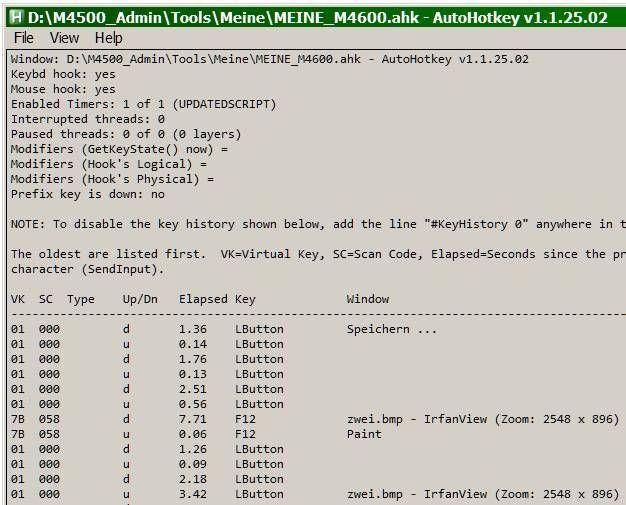 AutoHotKey Key History and Script-Info | AHK-Forumbeiträge