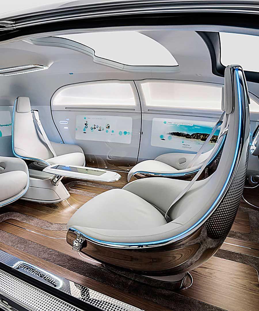Future Interior Luxury Design: Mercedes-Benz F 015 Autonomous Concept Car