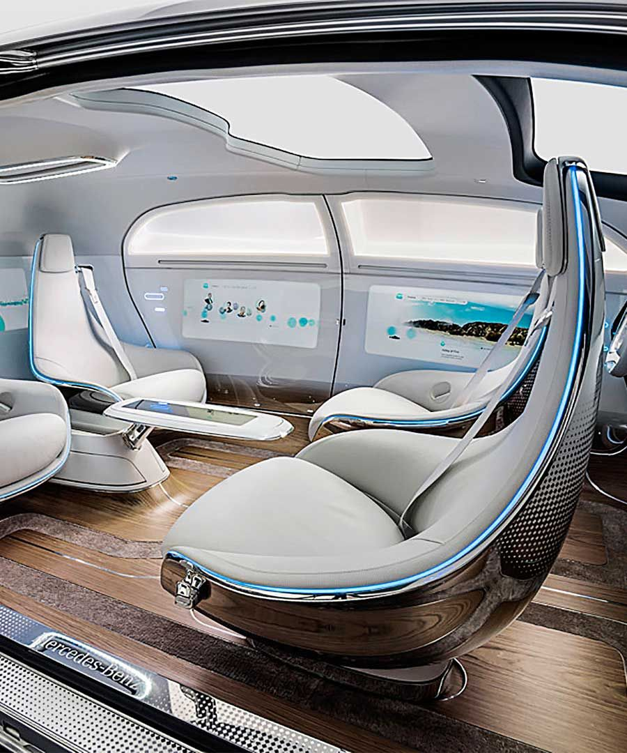 Mercedes Benz F 015 Autonomous Concept Car Dujour Concept Cars Future Car Futuristic Cars