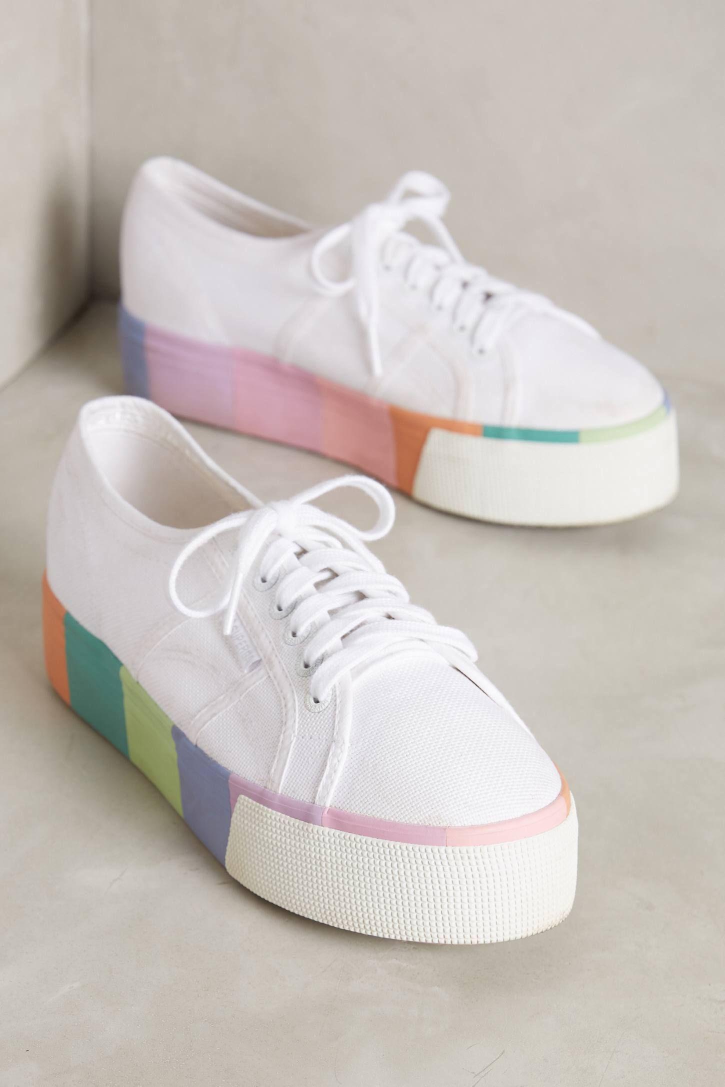 Superga Pastel Platform Sneakers