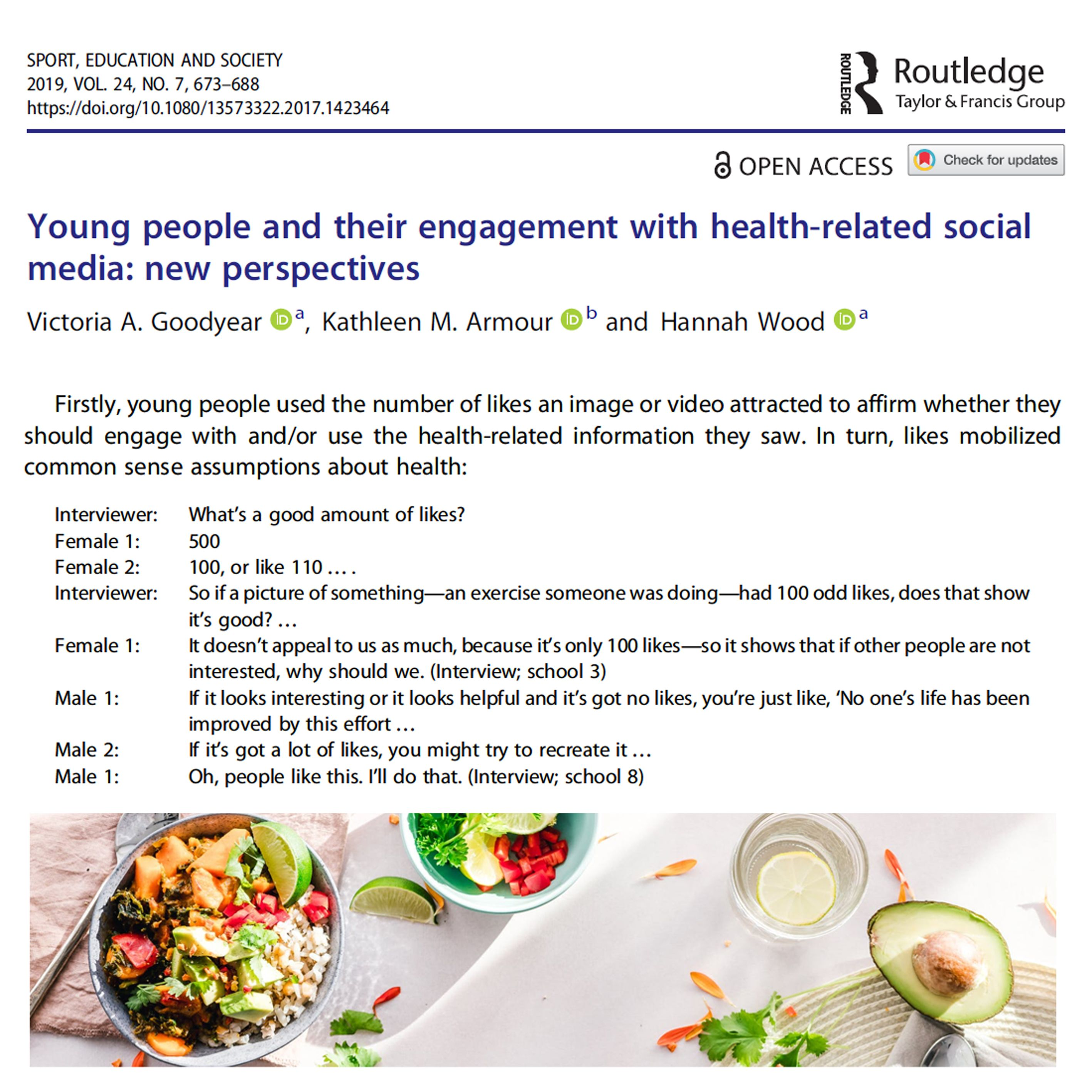Young people and their engagement with healthrelated