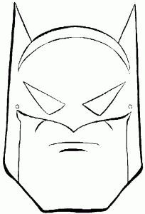 Batman Mask Figuras Para Pintar Batman Criancas