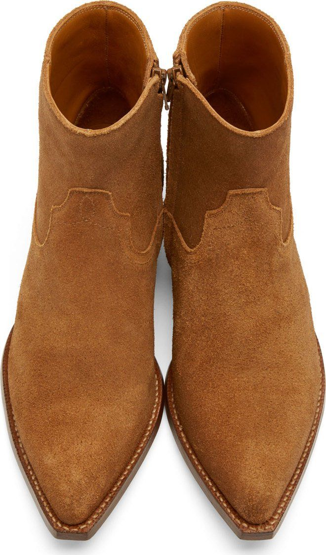 81dff1b1299 Saint Laurent Brown Suede Santiag Boots | My Style in 2019 | Mens ...
