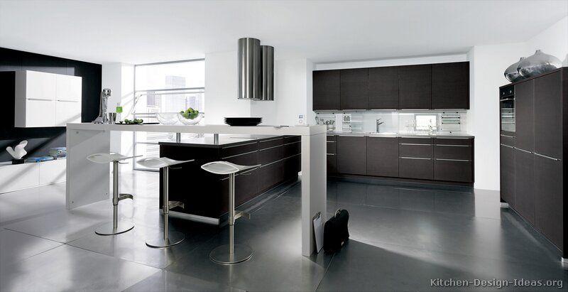 Modern Dark Wood Kitchen Cabinets #17 (Alno.com, Kitchen-Design ...
