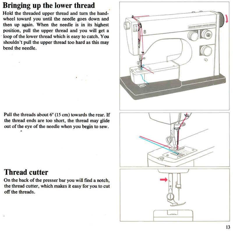 Viking Model 40 40 40 Threading instructions Sewing Magnificent How To Work A Sewing Machine Step By Step